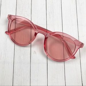 Pink Clear Frame Sunglasses NWOT